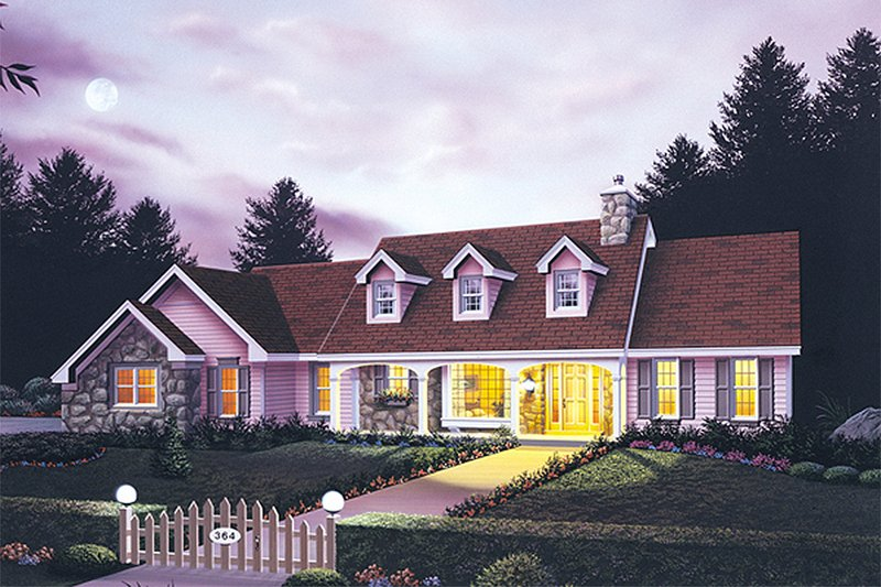 Country Exterior - Front Elevation Plan #57-125
