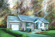 Ranch Style House Plan - 2 Beds 1 Baths 1116 Sq/Ft Plan #25-1138 Exterior - Front Elevation