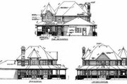 Victorian Style House Plan - 4 Beds 2.5 Baths 2459 Sq/Ft Plan #47-292 Exterior - Rear Elevation