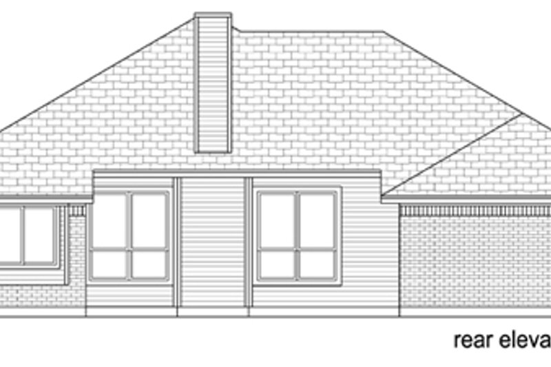 Traditional Exterior - Rear Elevation Plan #84-560 - Houseplans.com