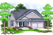 Craftsman Style House Plan - 2 Beds 2 Baths 1346 Sq/Ft Plan #70-674 Exterior - Front Elevation