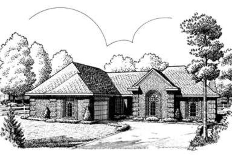 European Exterior - Front Elevation Plan #410-303