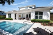 Contemporary Style House Plan - 4 Beds 4 Baths 3582 Sq/Ft Plan #938-92 Exterior - Rear Elevation