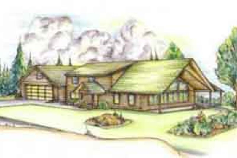 Traditional Exterior - Front Elevation Plan #117-184 - Houseplans.com