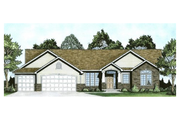 Ranch Style House Plan - 3 Beds 2 Baths 1764 Sq/Ft Plan #58-198