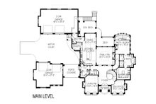 European Floor Plan - Main Floor Plan Plan #920-65