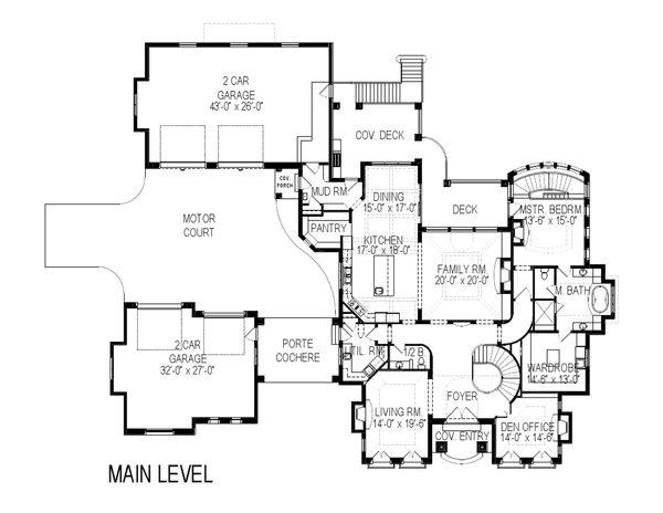 European Floor Plan - Main Floor Plan Plan #920-65