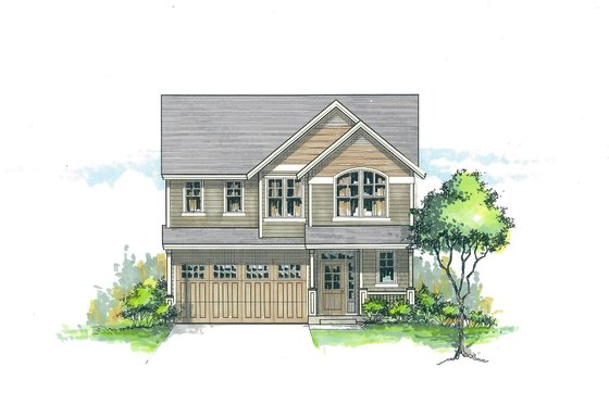 Craftsman Exterior - Front Elevation Plan #53-479