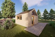 Modern Style House Plan - 1 Beds 1 Baths 315 Sq/Ft Plan #549-33 Exterior - Rear Elevation