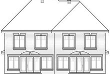 European Exterior - Rear Elevation Plan #23-2171
