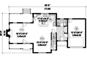 Country Style House Plan - 3 Beds 2 Baths 2119 Sq/Ft Plan #25-4672 Floor Plan - Main Floor Plan