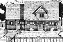 Country Exterior - Front Elevation Plan #20-982