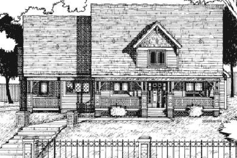 Country Exterior - Front Elevation Plan #20-982 - Houseplans.com
