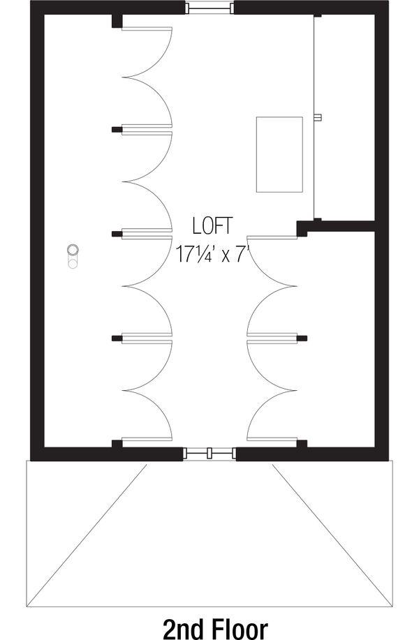 Cottage Floor Plan - Upper Floor Plan Plan #915-3