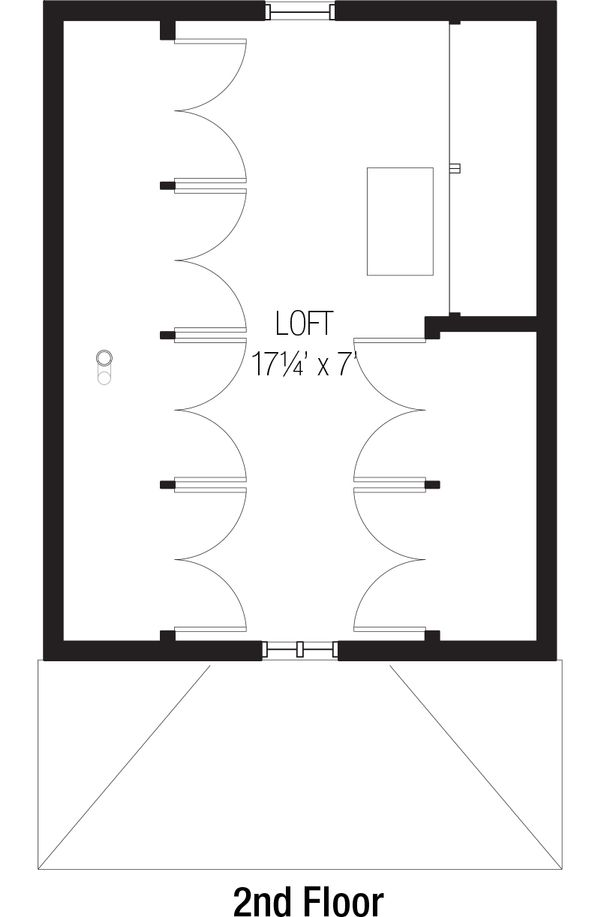 Cottage Floor Plan - Upper Floor Plan Plan #915-3
