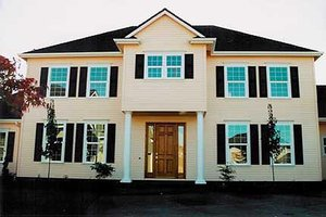 Colonial Exterior - Front Elevation Plan #124-464