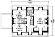 Country Style House Plan - 3 Beds 2 Baths 2976 Sq/Ft Plan #25-4683 Floor Plan - Upper Floor Plan