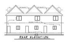 Home Plan Design - Craftsman Exterior - Rear Elevation Plan #20-411