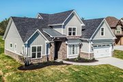 Craftsman Style House Plan - 4 Beds 2.5 Baths 2607 Sq/Ft Plan #20-2146 Exterior - Front Elevation