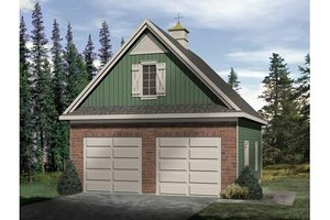 Country Exterior - Front Elevation Plan #22-428
