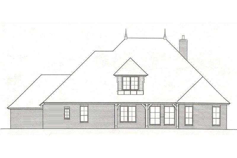 European Exterior - Rear Elevation Plan #310-973 - Houseplans.com