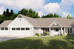 Ranch Exterior - Front Elevation Plan #1064-88