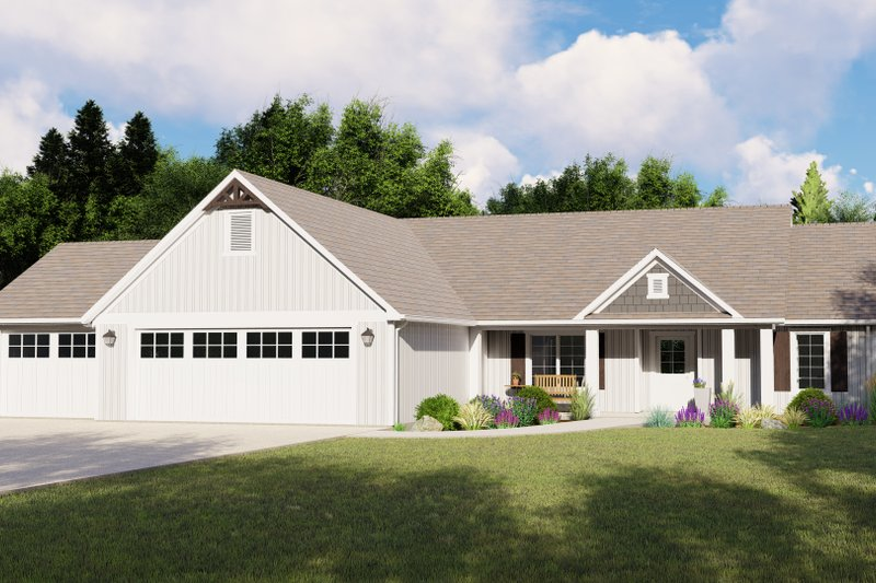 Home Plan - Ranch Exterior - Front Elevation Plan #1064-88