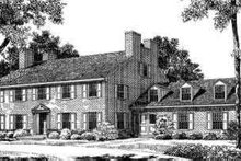 Colonial Exterior - Front Elevation Plan #72-308