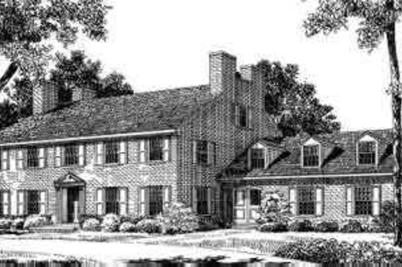 House Blueprint - Colonial Exterior - Front Elevation Plan #72-308