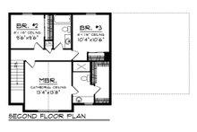 Farmhouse Floor Plan - Upper Floor Plan Plan #70-1453