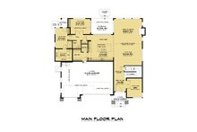 Contemporary Floor Plan - Main Floor Plan Plan #1066-121