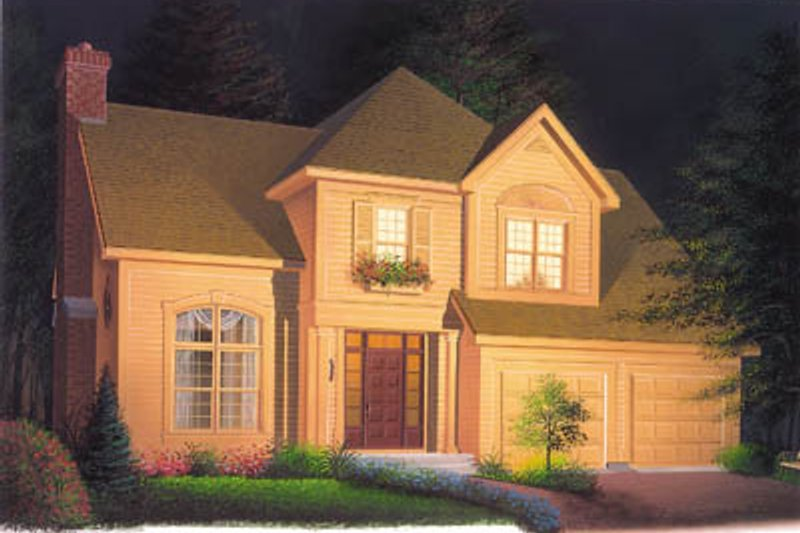 Traditional Exterior - Front Elevation Plan #23-246 - Houseplans.com