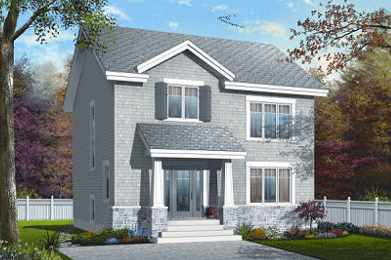 Traditional Exterior - Front Elevation Plan #23-738 - Houseplans.com