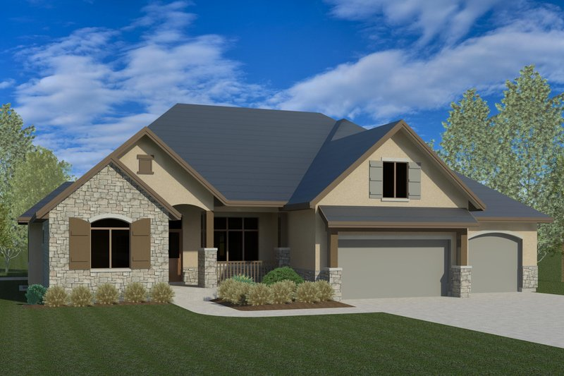 Traditional Exterior - Front Elevation Plan #920-78