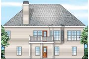 European Style House Plan - 3 Beds 2 Baths 1429 Sq/Ft Plan #927-23 Exterior - Rear Elevation