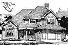 Home Plan Design - Craftsman Exterior - Front Elevation Plan #20-610
