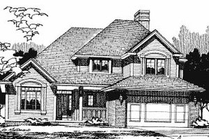 Craftsman Exterior - Front Elevation Plan #20-610