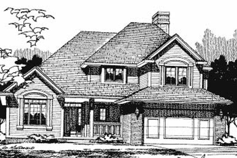 Craftsman Exterior - Front Elevation Plan #20-610 - Houseplans.com