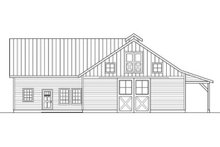 Country Exterior - Rear Elevation Plan #124-798