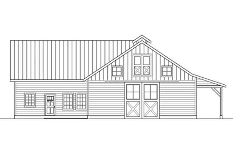 Country Exterior - Rear Elevation Plan #124-798 - Houseplans.com
