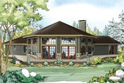 Ranch Style House Plan - 3 Beds 2 Baths 2351 Sq/Ft Plan #124-952 Exterior - Front Elevation