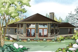 Ranch Exterior - Front Elevation Plan #124-952