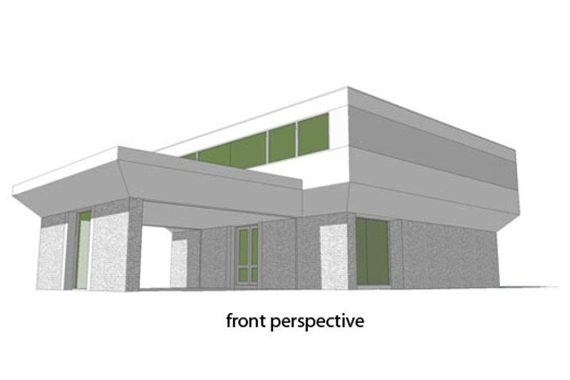 Modern Exterior - Front Elevation Plan #64-206 - Houseplans.com