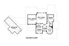 Craftsman Floor Plan - Upper Floor Plan Plan #120-173