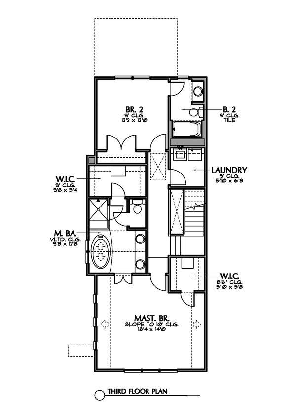 Mediterranean Floor Plan - Upper Floor Plan Plan #449-19