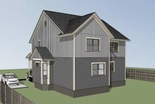 Southern Exterior - Rear Elevation Plan #79-242