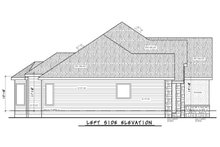 Home Plan Design - Left Side Elevation