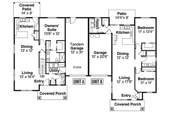 Cottage Floor Plan - Main Floor Plan Plan #124-1080