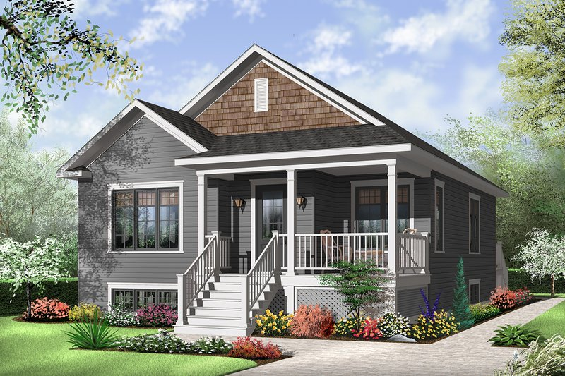 Country Exterior - Front Elevation Plan #23-2377
