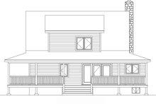Home Plan - Country Exterior - Rear Elevation Plan #22-221